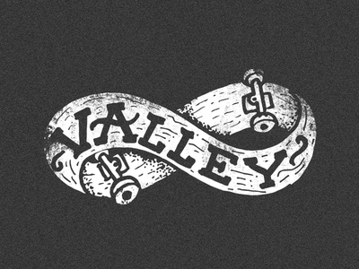 Valley sticker skate brand lettering illustration cotino grain texture noise méxico argentina hermosillo