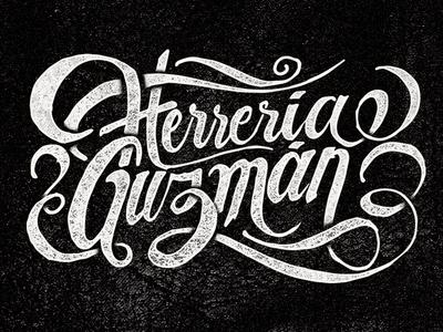 Herrería Guzmán herrería smith blacksmith tipografía typography type lettering logo hermosillo sonora méxico