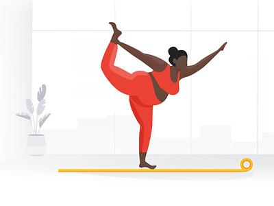 Home yoga creative illustration fitness quarentine health healthy yoga design