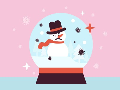 Seasonal Affective Disorder quarentine vector sad snowball illustration design depression winter covid19 disorder mentalhealth
