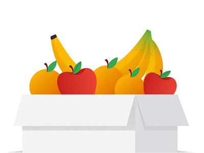 Fruit box illustrator fruits nature creative vector illustration design