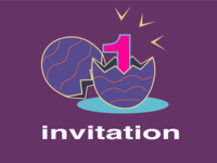Easter Day Dribbble Invitation — Let's celebrate together!