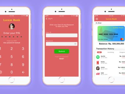 Mobile Banking Login Process (UI/UX Design Concept)