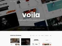 Voila - A Powerful Multi-Purpose Portfolio Template