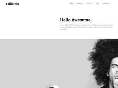 California - Creative Portfolio WordPress Theme