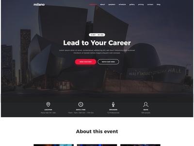 Milano - Event & Conference WordPress Theme