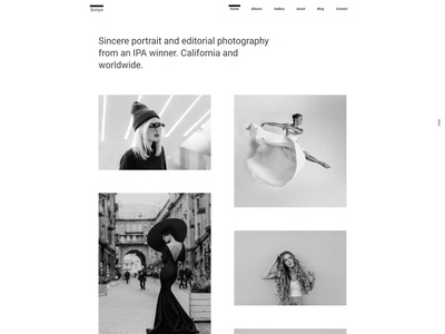 Sonya - Photography WordPress Theme