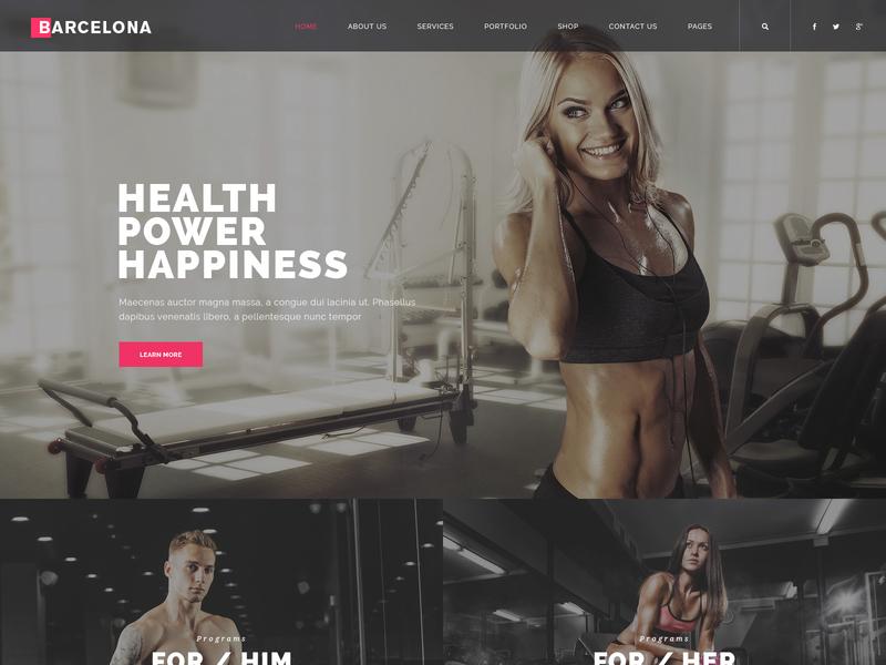 Barcelona fullscreen modern portfolio creative agency responsive business club sport