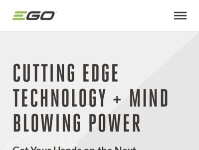 EGO Mobile Home power tools tools wordpress shop responsive website design responsive shop technology business