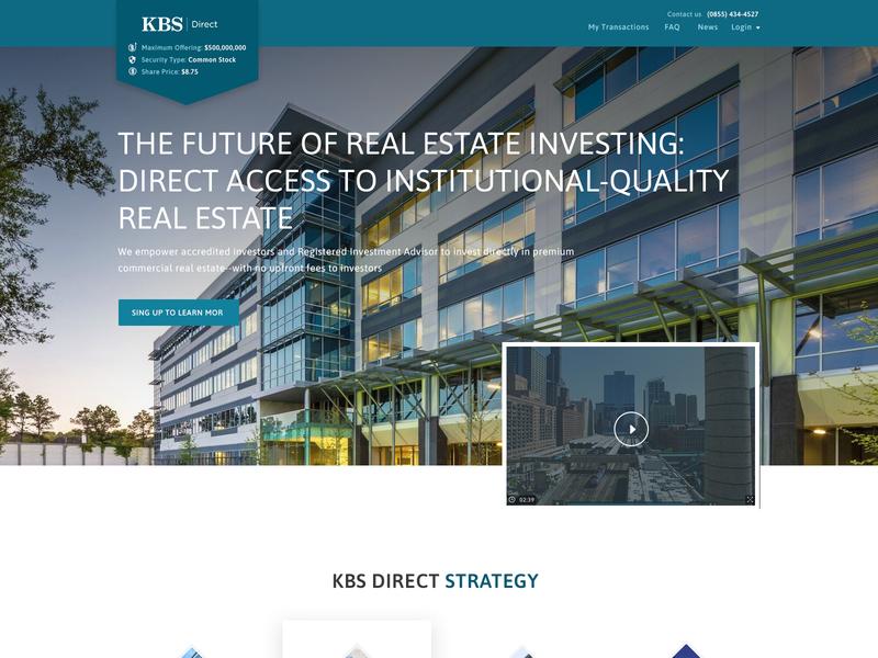 KBS Direct webdevelopment webdesign properties real estate investment modern business creative