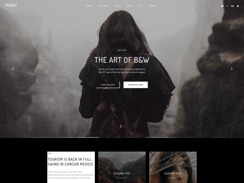 Phoxy modern wordpress design responsive agency webdevelopment gallery photography portfolio business creative