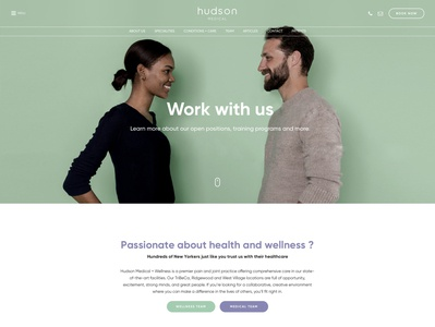 Hudson Medical - Work with Us Page