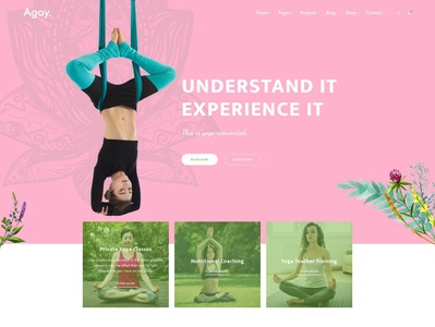 Agoy - Yoga WP Theme