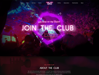 Djo - Night Club WP Theme artwork photography portfolio gallery webdesign nightlife nightclub design modern wordpress development webdevelopment popular creative