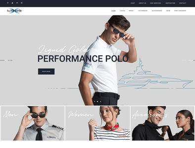 Liquid Yacht Wear Wordpress Theme