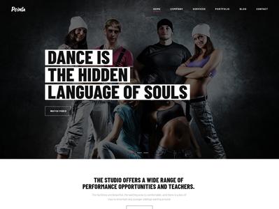Dance Studio web design typography art product design print mobile illustration branding dance studio dance typography graphic design photography webdesign creative wordpress modern gallery portfolio webdevelopment business