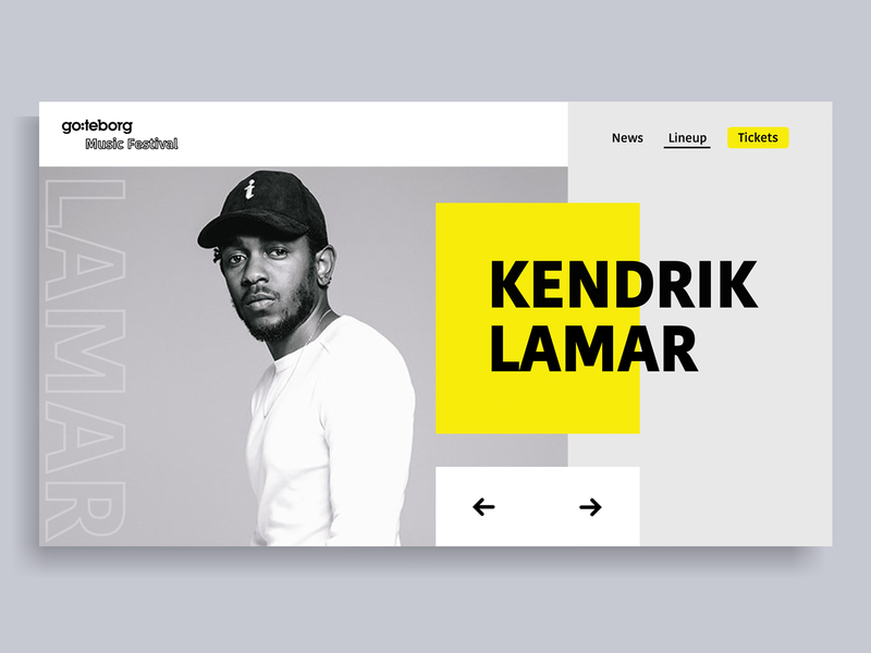 Music Festival web kendrick lamar web design website festival music ui web design