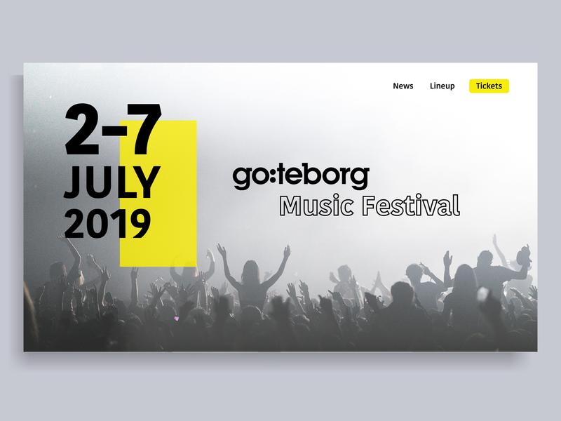 Festival main concept music design web website web design ui festival