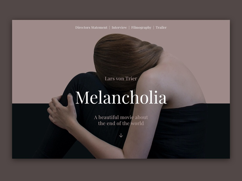 Modularity Melancholia Movie website Concept