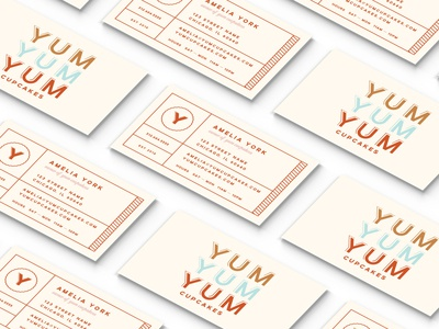 Yum Cupcakes Business Card