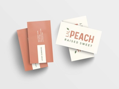 Lil' Peach Business Cards