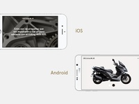 iOS and Android — Kymco app