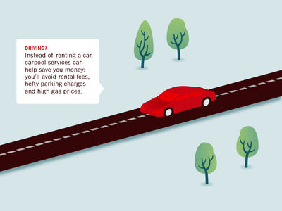 Layout detail — The art of a last-minute getaway infographic