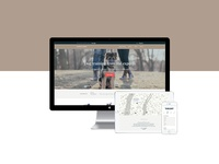 Responsive: desktop, tablet and mobile — Andrea Arden website