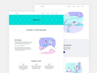 Juvo website, about and home page