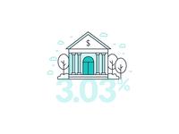 Finance infographics, bank illustration