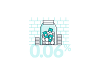 Finance infographics, inflation data