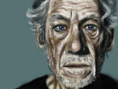 Portrait of Ser Ian McKellen