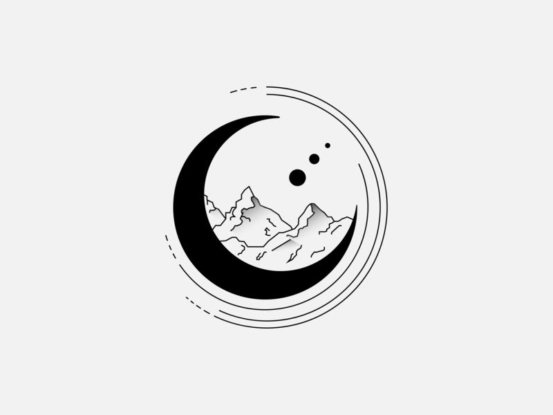 hills & moon