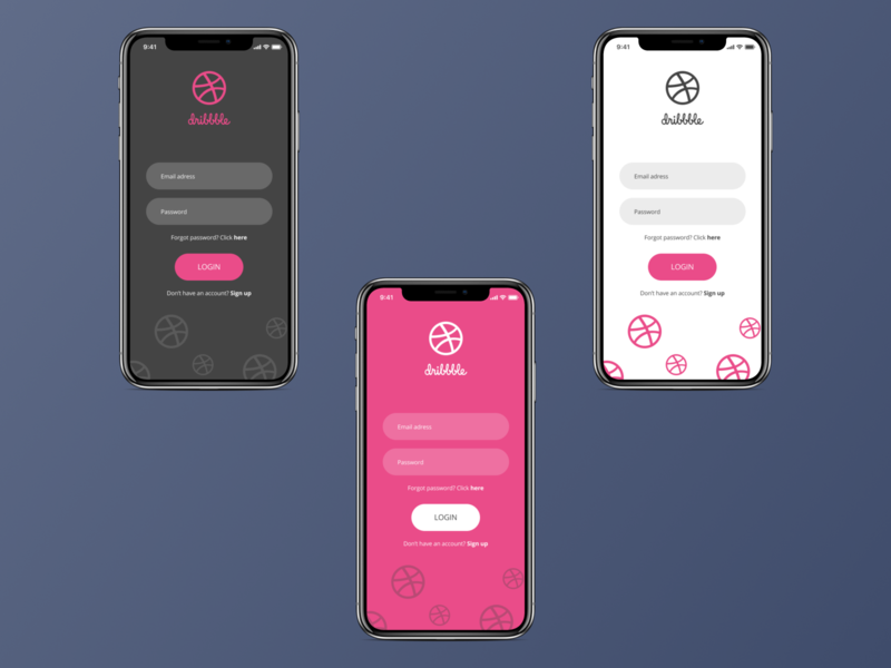 Dribbble Login screens by Dino Sakoman on Dribbble