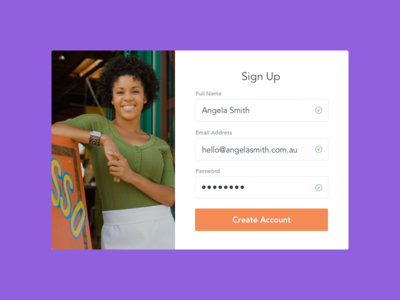 Sign Up - DailyUI #001 clean form sign up sign up form 001 dailyui