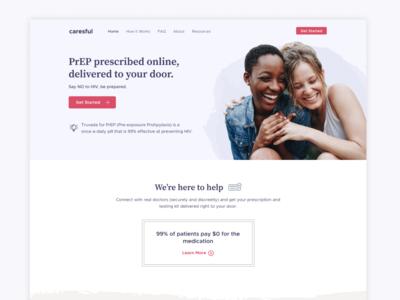 Caresful Website user interface design web design