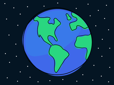 Happy Earth Day! debut illustration earth