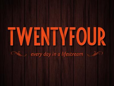 Twentyfour logo typography fiesta fontin
