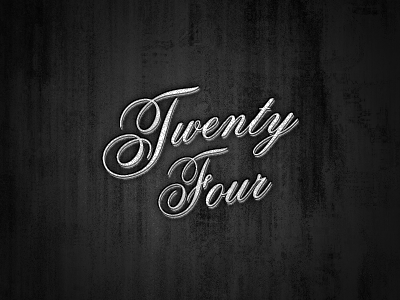 Twentyfour logo typography