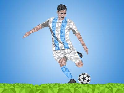 Triangles in football triangle illustration logo football