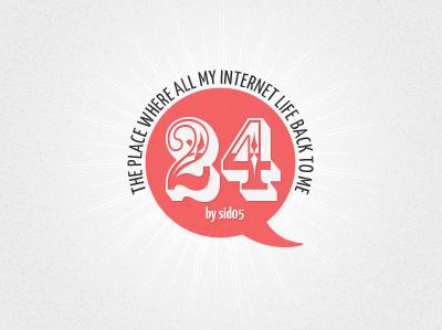 Logo for 24 lifestream logo web design header