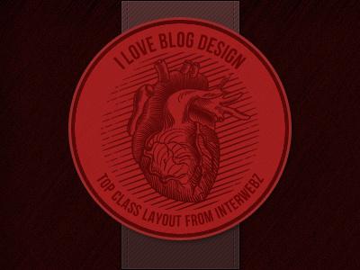 i Love Blog Design logo web design red
