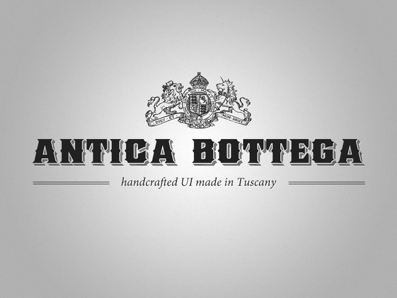 Antica Bottega  ancient heraldic typography
