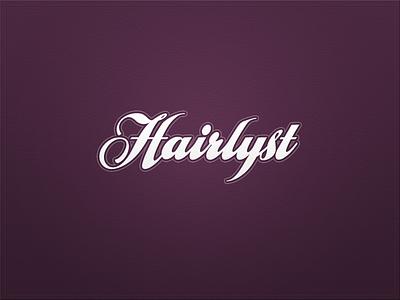 Hairlyst logo ui app typography
