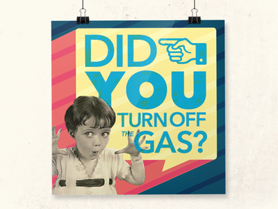 Reminder typography retro reminder bathroom gas warning poster girl