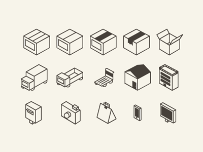 Flat 3D icon set for download(AI)