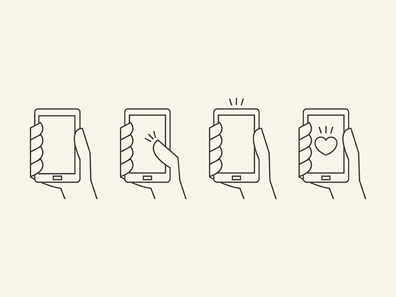 Hand & Phone FREE AI for download free hand smart phone icons download ai illustrator outline