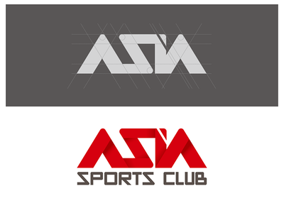 Asia Sports Club logo logo identity sports red