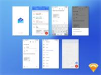 Google Inbox mockup (Sketch freebie)