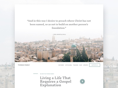 Thomas Family faith missions web website